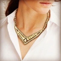 Statement V-Collar Necklace $88