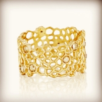 Golden Honeycomb Ring $38