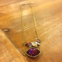 Bouquet Rouge Double Pendant Necklace $48