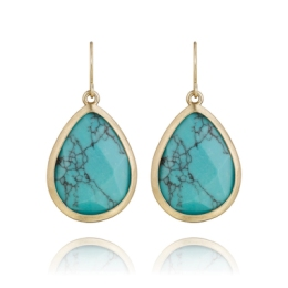 Minaret Turquoise Teardrop Earrings $34